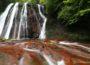 横谷渓谷_滝巡りガイド ~王滝滝壺までご案内!赤い渓床の美しい渓谷~